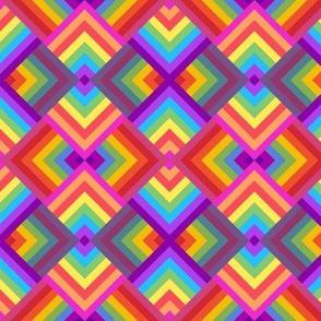 Pride LGBT rainbow  stripe patchwork cheater quilt