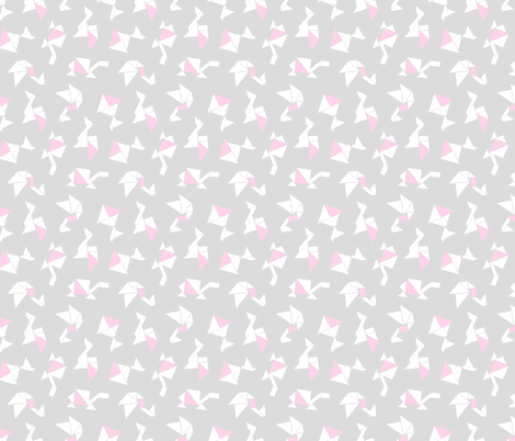 Animal Tangrams + Baby Pink fabric by thewellingtonboot on Spoonflower - custom fabric