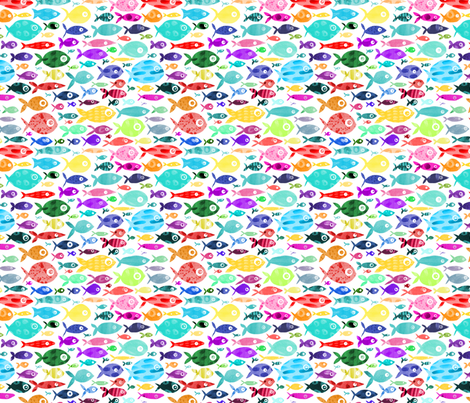 Rainbow fish white background wallpaper for Rainbow fish fabric