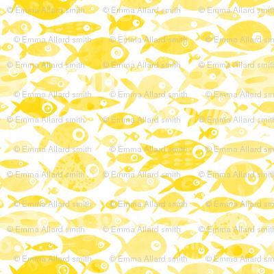 Yellow Fish - white