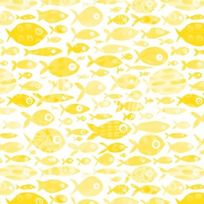 Yellow Fish - white