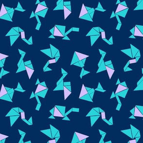 Animal Tangrams on Dark Blue