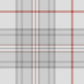 """Southdown tartan - 7"""" pale grey"""
