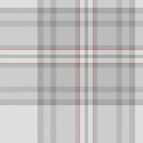 """Southdown tartan - 10"""" pale grey"""