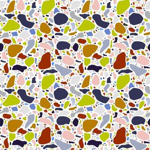 Terrazzo Pattern on White
