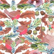 Bohemian woodland bunnies and robins