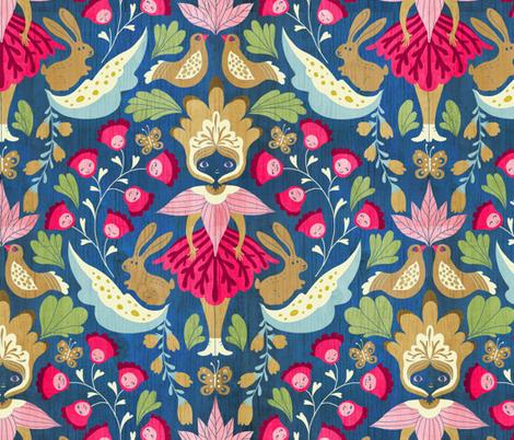 svedishdoll-blue fabric by gaiamarfurt on Spoonflower - custom fabric