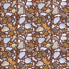 Terrazzo Pattern on Brown