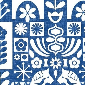 Swedish Folk Art_MCModern Blue