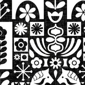 Swedish Folk Art_MCM Black