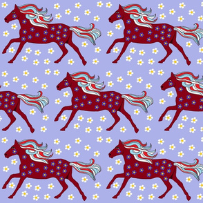 Floral pattern with Flowery Horse