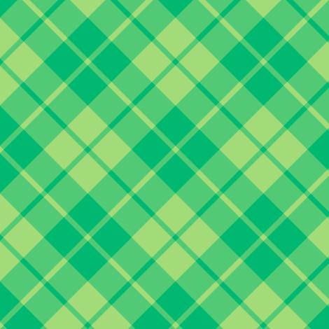 green and lime diagonal tartan fabric by weavingmajor on Spoonflower - custom fabric