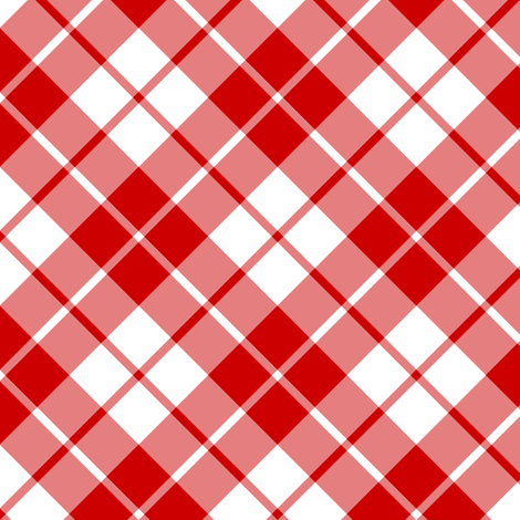 Imperial red and white diagonal tartan fabric by weavingmajor on Spoonflower - custom fabric