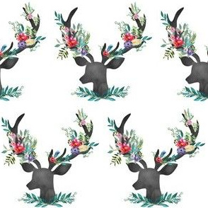 "3"" Happy & Bright  Original Floral Deer"