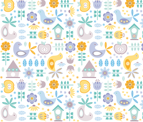 swedish garden fabric by heleenvanbuul on Spoonflower - custom fabric
