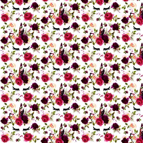 "1.5"" Wine Unicorn small fabric by lil'faye on Spoonflower - custom fabric"