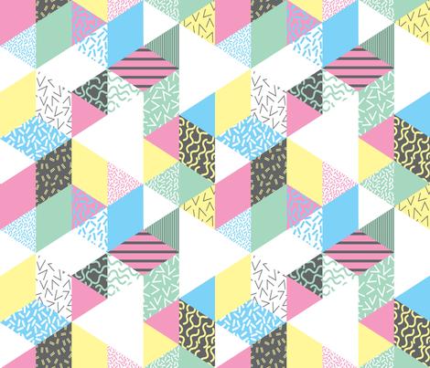 memphis_GEOMETRICS_pattern-01 fabric by corazón-designs on Spoonflower - custom fabric