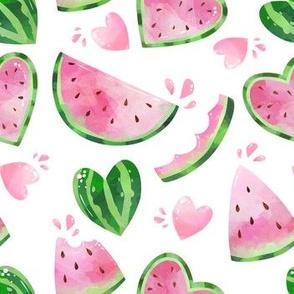 watermelon in white