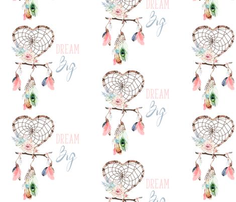 "8"" Dream Big / Love Dreaming Boho Style Dreamcatcher fabric by shopcabin on Spoonflower - custom fabric"