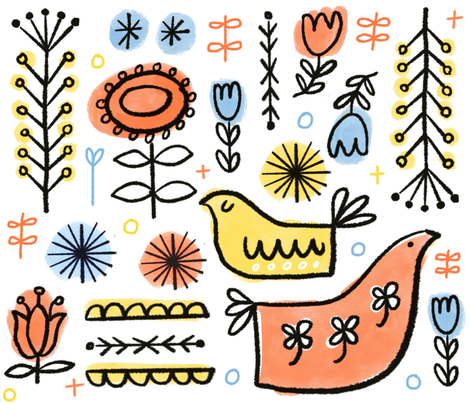 Swedish Primary fabric by anda on Spoonflower - custom fabric