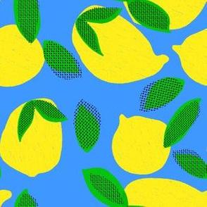 """6"""" Squeeze Me Lemons - Bright Blue"""