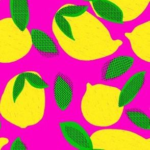 """6"""" Squeeze Me Lemons - Fuschia"""