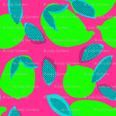 """6"""" Squeeze Me Lemons - Neon Limes Fuschia"""