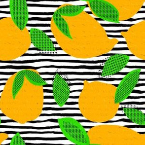 "6"" Squeeze Me Oranges - Black & White Stripes"