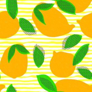 "6"" Squeeze Me Oranges - Yellow Stripes"