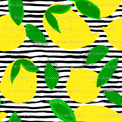 """6"""" Squeeze Me Lemons - Stripes"""