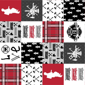 Firefighter Faux Quilt - Special Edition (Vertical)