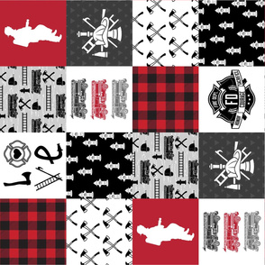Firefighter Faux Quilt - Special Edition #2 (Vertical)