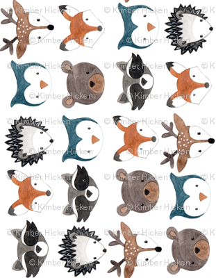 Woodland Creatures Rotated