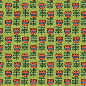 petit tulips green