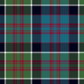 "MacDonald of Clan Ranald tartan, 7"" muted"
