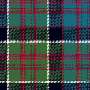 "MacDonald of Clan Ranald tartan, 10"" muted"