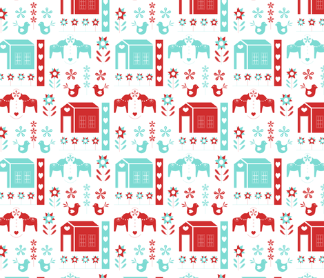 Heart and Home fabric by angelatackett on Spoonflower - custom fabric