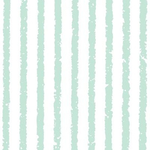 Vertical Lullaby Stripes( White/Light Blue-  Green)