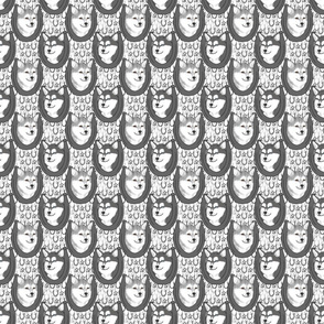 Alaskan Klee Kai horseshoe portraits B - small