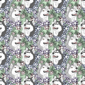 Floral Siberian Husky portraits B