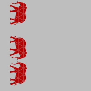 Elephant Border in Red