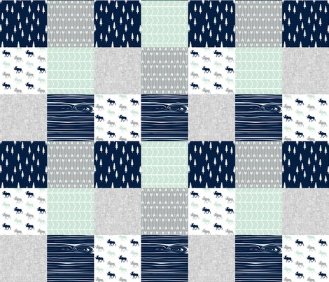 Rrnorthern_lights_triangle_quilt_top_moose-03_shop_preview