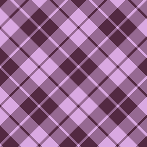 mauve and pink diagonal tartan fabric by weavingmajor on Spoonflower - custom fabric