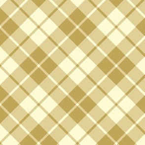 cream and tan diagonal tartan