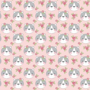 tiny cats-and-flowers-on-soft-pink
