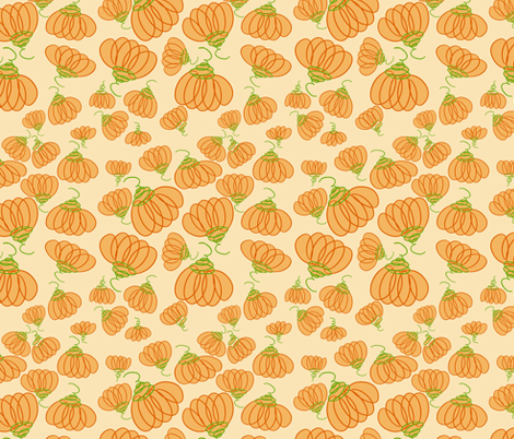 pumpkins fabric by threadconnections on Spoonflower - custom fabric