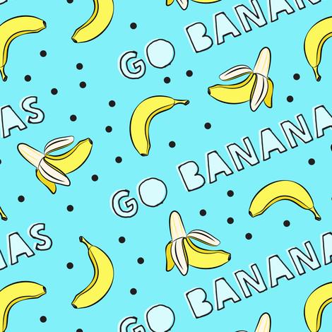 go bananas! - blue fabric by littlearrowdesign on Spoonflower - custom fabric