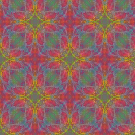 Tie Dyed Bohemian Flowers fabric by karwilbedesigns on Spoonflower - custom fabric