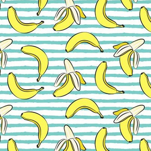 bananas on stripes
