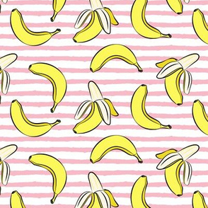 banana on stripes (pink)